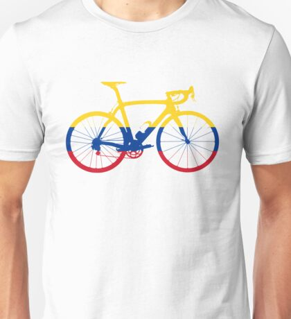 Bike Flag Colombia (Big) Unisex T-Shirt