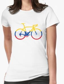 Bike Flag Colombia (Big) Womens Fitted T-Shirt