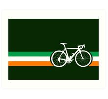 Bike Stripes Irish National Road Race Art Print