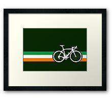 Bike Stripes Irish National Road Race Framed Print