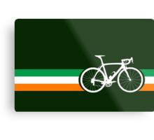 Bike Stripes Irish National Road Race Metal Print