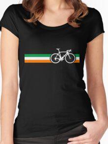 Bike Stripes Irish National Road Race Women's Fitted Scoop T-Shirt