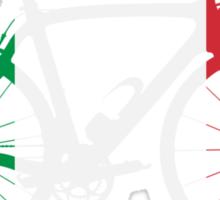 Bike Flag Italy (Big) Sticker