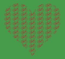 Bike Heart (Red) (Small) Kids Clothes
