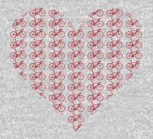 Bike Heart (Red) (Small) Baby Tee