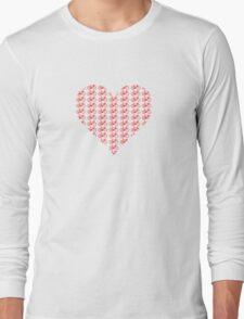 Bike Heart (Red) (Small) Long Sleeve T-Shirt