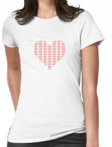 Bike Heart (Red) (Small) Womens Fitted T-Shirt
