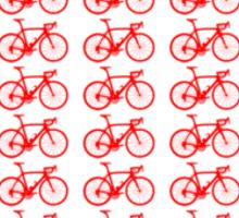 Bike Heart (Red) (Small) Sticker