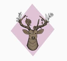 Baby Pink Geometric Stag Unisex T-Shirt