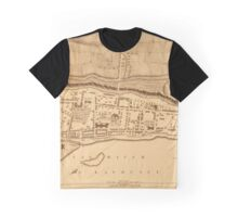 Map Of Montreal 1758 Graphic T-Shirt