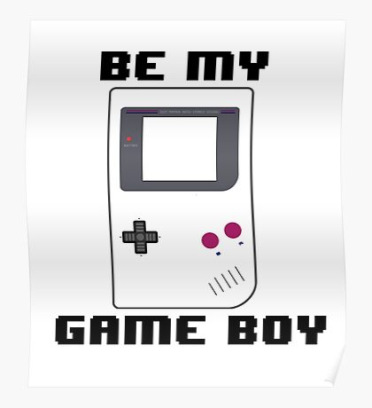 BE MY GAME BOY Poster