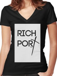 RICH PORT BY REVISION ™ Women's Fitted V-Neck T-Shirt