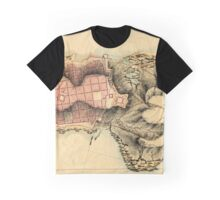 Map Of Montevideo 1808 Graphic T-Shirt