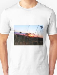 Plants With A Sunset Background Unisex T-Shirt