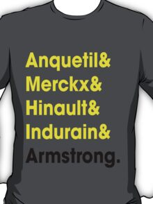 5 Times Tour Winners (Yellow) T-Shirt