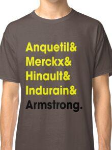 5 Times Tour Winners (Yellow) Classic T-Shirt