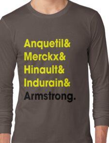 5 Times Tour Winners (Yellow) Long Sleeve T-Shirt