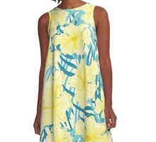 Hibiscus jungles A-Line Dress