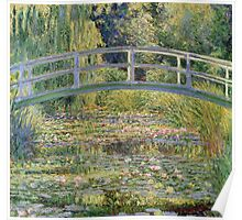 Claude Monet - The Japanese Bridge The Water Lily Pond 1899 Poster