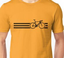 Bike Stripes Black Unisex T-Shirt