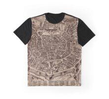 Map Of Milan 1600 Graphic T-Shirt