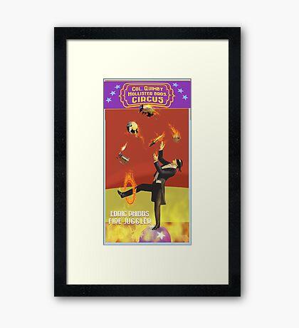 Edric Phibbs - Fire Juggler Framed Print