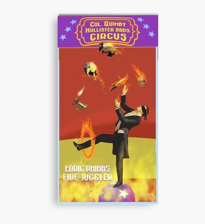 Edric Phibbs - Fire Juggler Canvas Print