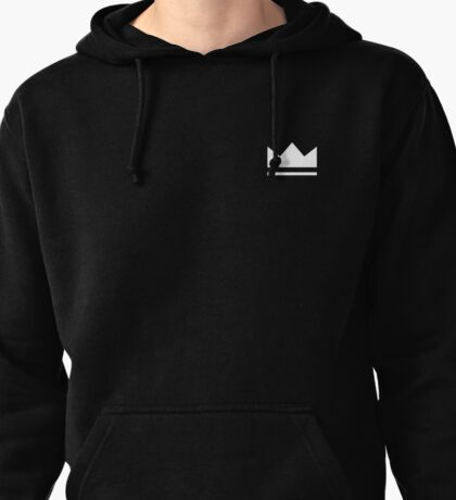 Crown (white) Pullover Hoodie