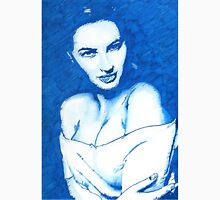 Woman in blue Unisex T-Shirt