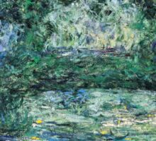 Claude Monet - The Japanese Bridge (1914 - 1917)  Sticker