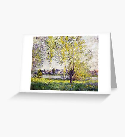 Claude Monet - The Willows Greeting Card