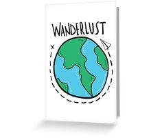 Wanderlust planet. Greeting Card
