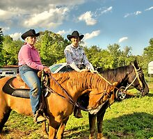 Cowgirls Ride by Sonja Dover