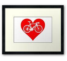 Bike Heart (Red) (Big) Framed Print