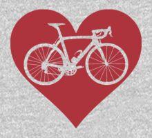 Bike Heart (Red) (Big) Kids Clothes