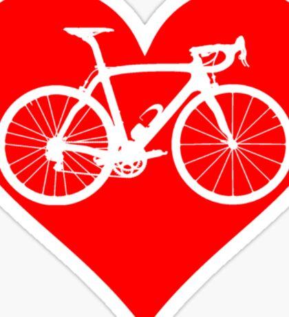 Bike Heart (Red) (Big) Sticker
