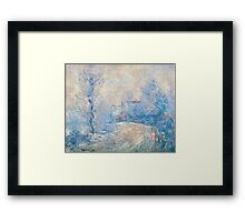 Claude Monet - The Entrance To Giverny Under The Snow  Framed Print