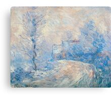 Claude Monet - The Entrance To Giverny Under The Snow  Canvas Print