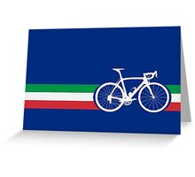 Bike Stripes Italian National Road Race Greeting Card