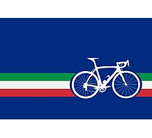 Bike Stripes Italian National Road Race Photographic Print