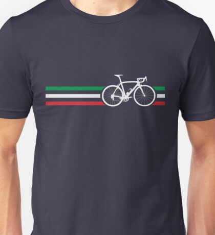 Bike Stripes Italian National Road Race v2 Unisex T-Shirt