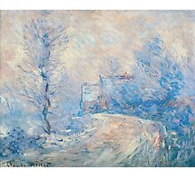 Claude Monet - The Entrance To Giverny Under The Snow Photographic Print
