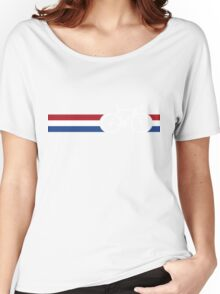 Bike Stripes Netherlands National Road Race Women's Relaxed Fit T-Shirt
