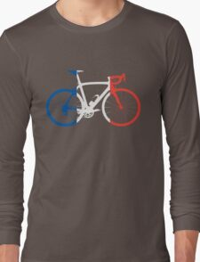 Bike Flag France (Big) Long Sleeve T-Shirt