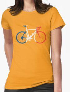 Bike Flag France (Big) Womens Fitted T-Shirt