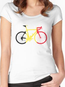 Bike Flag Belgium (Big) Women's Fitted Scoop T-Shirt