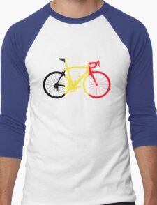 Bike Flag Belgium (Big) Men's Baseball ¾ T-Shirt