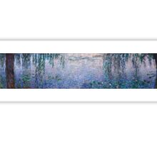 Claude Monet - The Water Lilies - Clear Morning with Willows (1915 - 1926)  Sticker