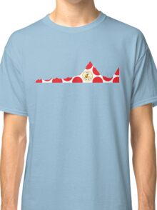 Red Polka Dot 2014 L'Etape du Tour Mountain Profile Classic T-Shirt