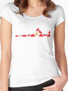 Red Polka Dot 2014 L'Etape du Tour Mountain Profile Women's Fitted Scoop T-Shirt